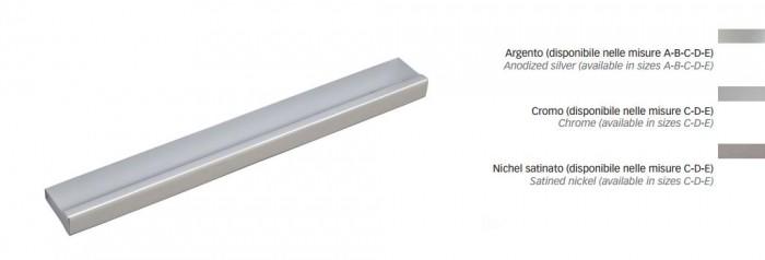 maniglia mobile mital 3990 alluminio