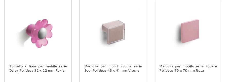 pomelli rosa per mobile