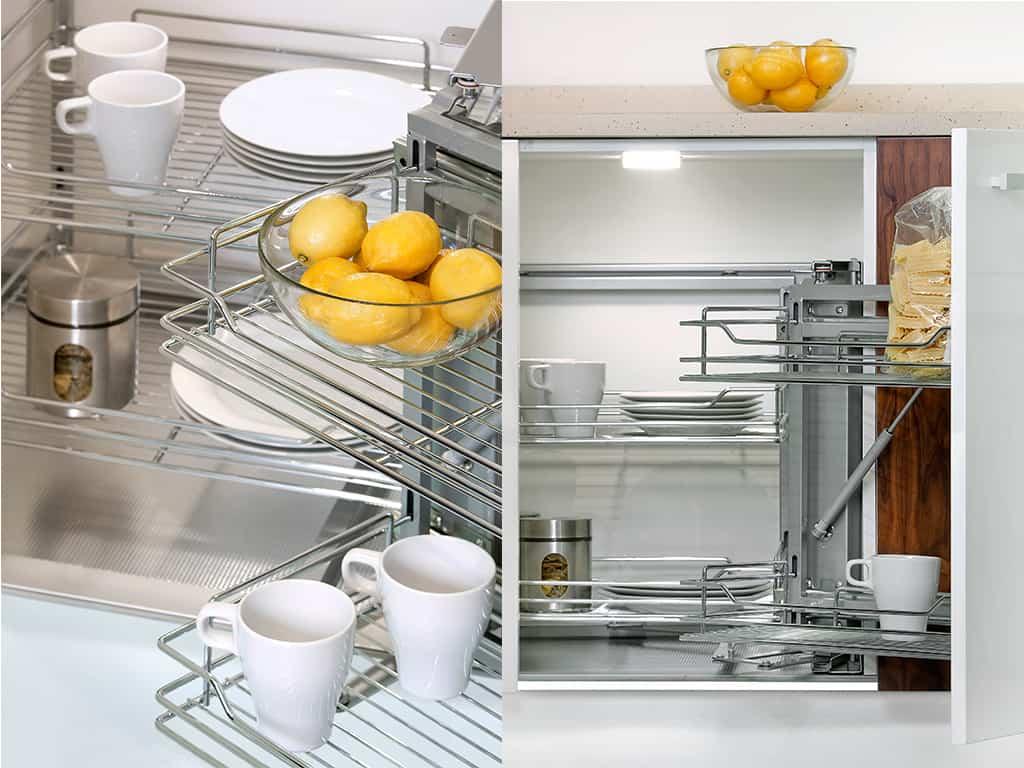 In cucina: sistemi estraibili per mobili da cucina EMUCA