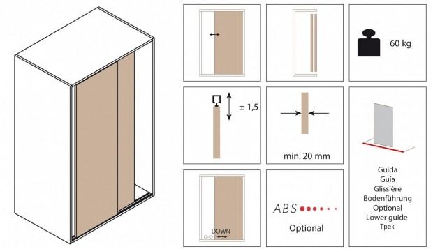 Come realizzare una cabina armadio con ante scorrevoli